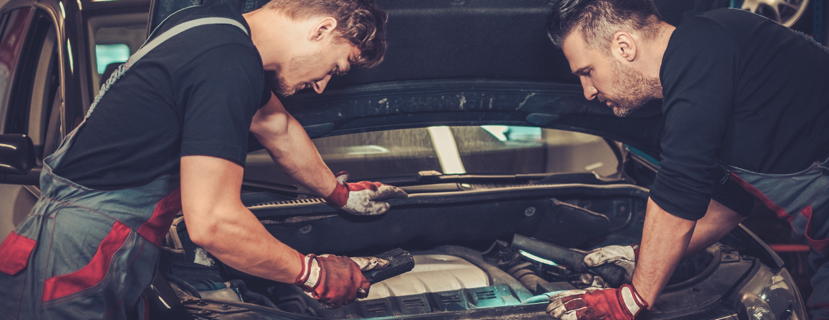 Technician performing Car Servicing Liverpool's Mount Garage Melling.